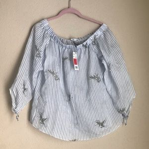 NWT Mango Off The Shoulder Blouse